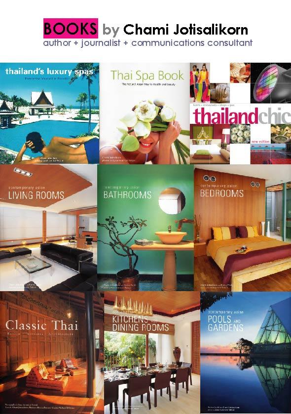 Books written by Chami Jotisalikorn, www.barefootluxe.net