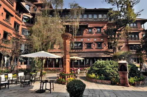 Dwarika's hotel Kathmandu historic cultural boutique hotel Kathmandu architectural preservation