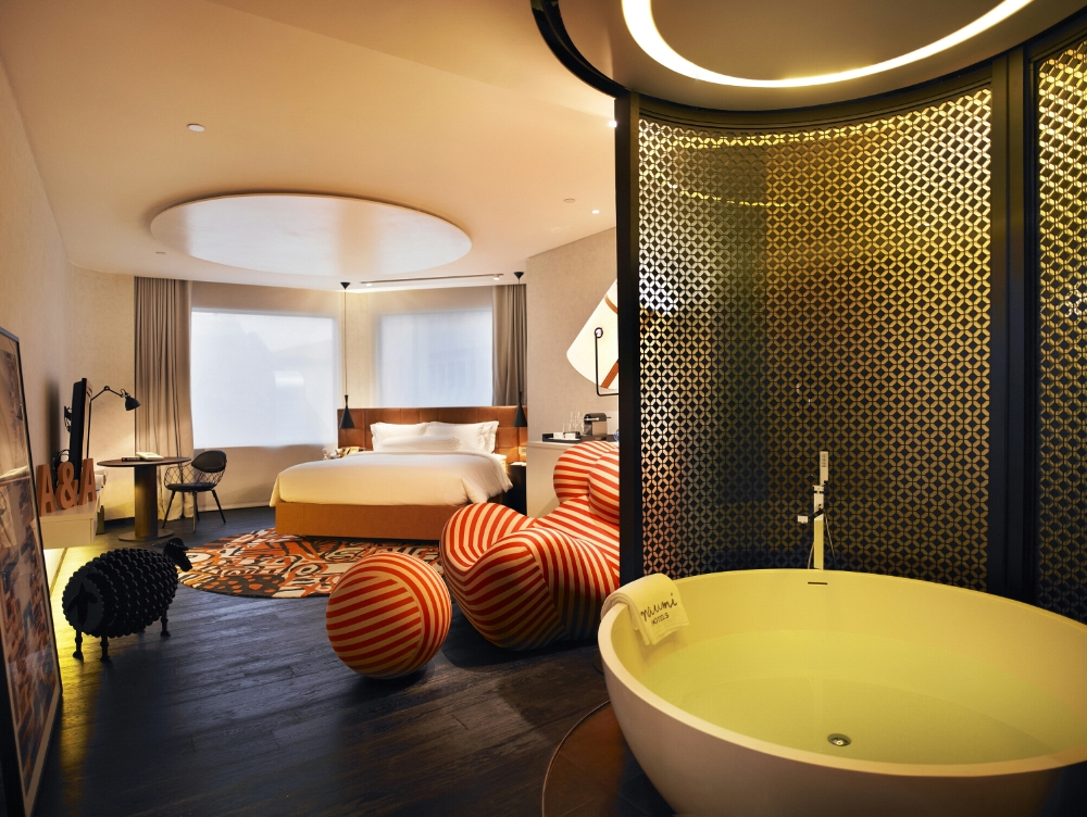 Get a glimpse six cool design hotels in asia barefoot for W hotel in room dining menu singapore