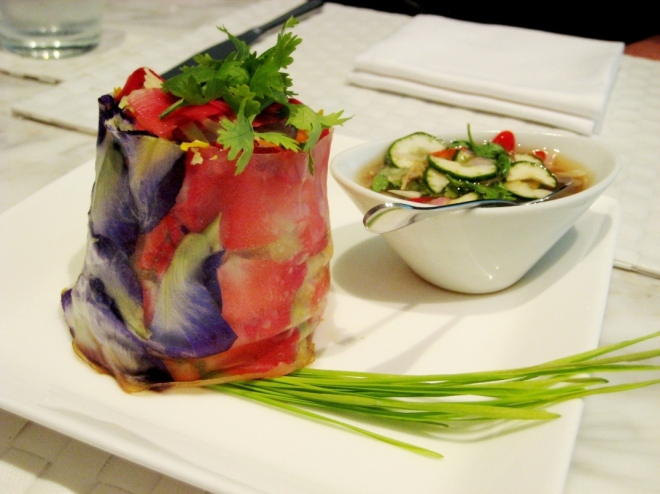 Raw Cuisine spring roll Diana von Cranach raw food chef