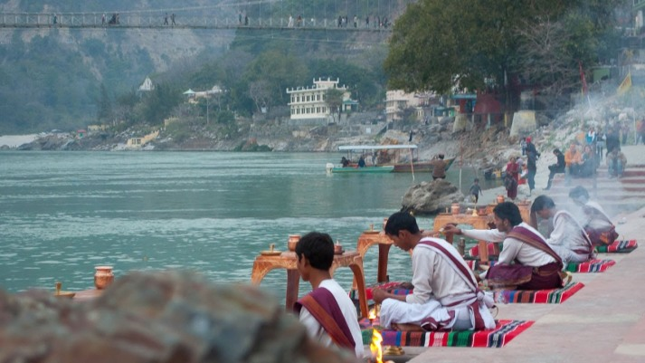 Rishikesh, India, pilgrims
