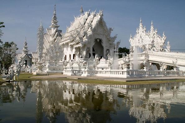 Chiang Rai famous White Temple Wat Rong Khun