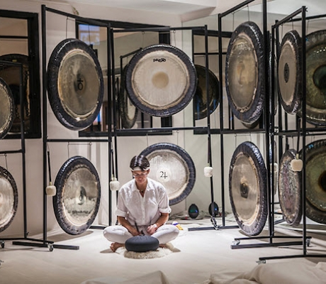 Gong therapy, Sound healing, The Opium Spa The Siam Hotel Bangkok, best luxury hotels spas Bangkok Thailand Asia, www.BarefootLuxe.net