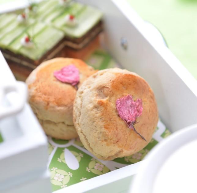 Sakura blossom afternoon tea set, Okura Prestige Bangkok hotel, best luxury hotel Bangkok, www.BarefootLuxe.net
