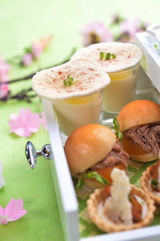 Sakura afternoon tea set, Okura Prestige Bangkok hotel, best luxury hotel Bangkok, www.BarefootLuxe.net