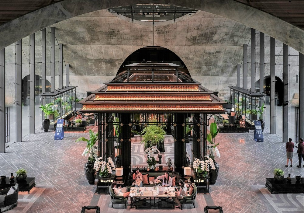 www.barefootluxe.net, sindhorn kempinski Bangkok lobby afternoon tea